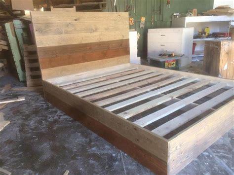 diy pallet platform bed  pallets