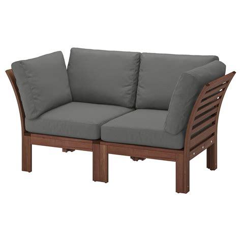 aepplaroe sofa modular de  asientos ext tinte cafefroesoenduvholmen gris oscuro ikea