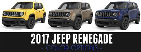 jeep renegade colors 2017 jeep renegade color options