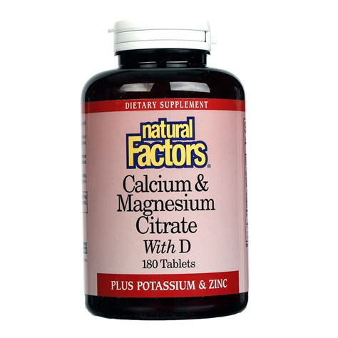 Cal Mag Citrate Natur Care Isi 30 Tablet factors calcium magnesium citrate with d 180 tablets evitamins uk