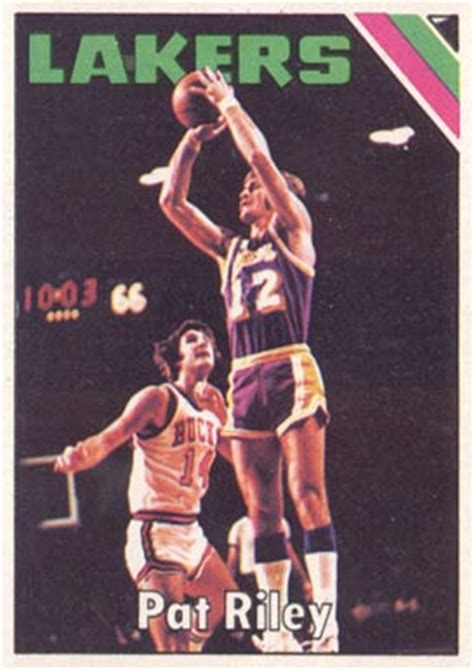 Pat Rilet Mba Card by 1975 Topps Pat 71 Basketball Card Value Price Guide