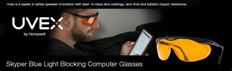 uvex skyper blue light glasses uvex skyper blue light blocking computer glasses with sct