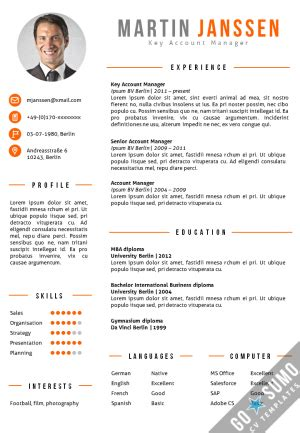 cv format word exle all cv templates go sumo