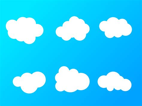 wallpaper awan kartun gambar vektor gratis awan latar belakang langit