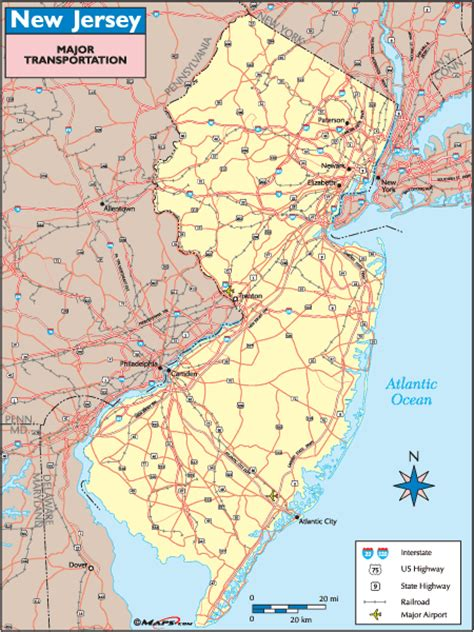 new jersey transit map new jersey transportation map by maps from maps world s largest map store