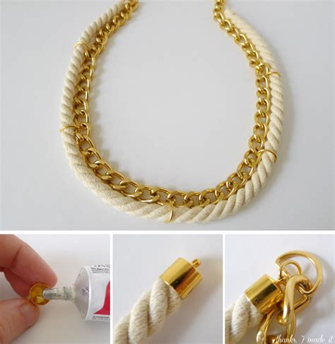 diy chain jewelry thanks i made it diy rope and chain necklace