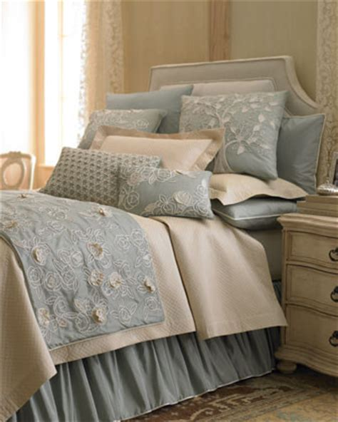 Bed Linens Blue Quot Sea Blue Quot Bed Linens Traditional Bedding By Neiman