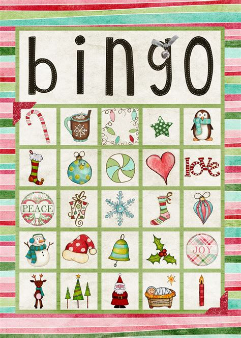 printable christmas bingo game cards 6 best images of printable bingo sets printable