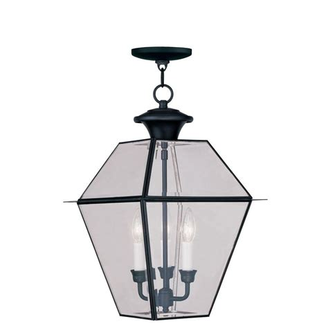 3 light outdoor pendant livex lighting providence 3 light black outdoor