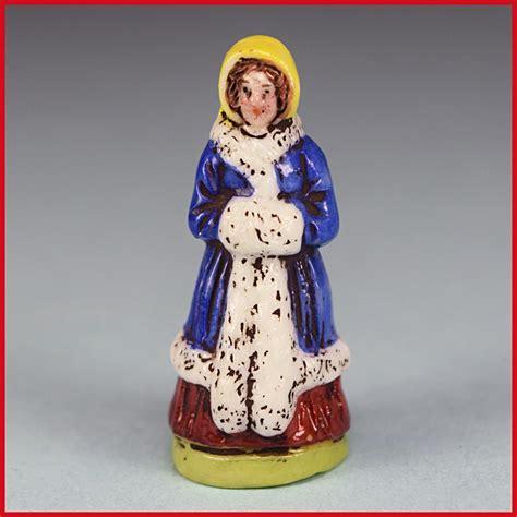 porcelain dollhouse signed antique porcelain dollhouse miniature figurine