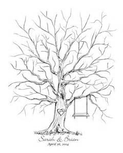 Guestbook Tree Template by Free Printable Fingerprint Tree Template