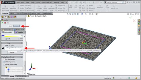 solidworks sketch pattern edit creating solidworks custom appearance files