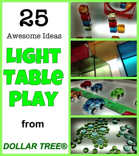 25 awesome ideas for light table play from dollar tree