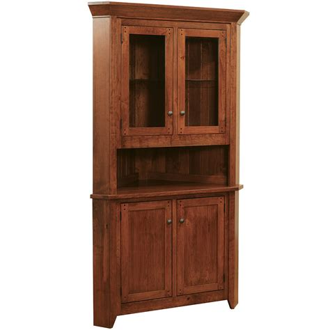 amish sideboards buffets frontier corner buffet with