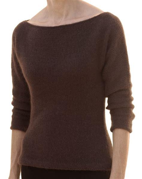 boat neck sweater knitting pattern knit 1 la the boat neck