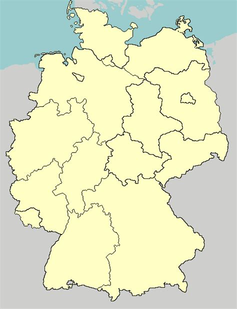 states germany map german states map my
