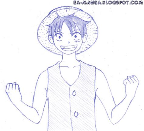 tutorial menggambar digital cara menggambar monkey d luffy manga council