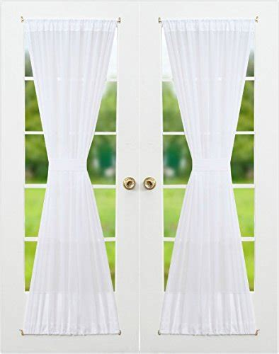 french voile curtain panels rose home fashion synchkg096356 rhf voile french door