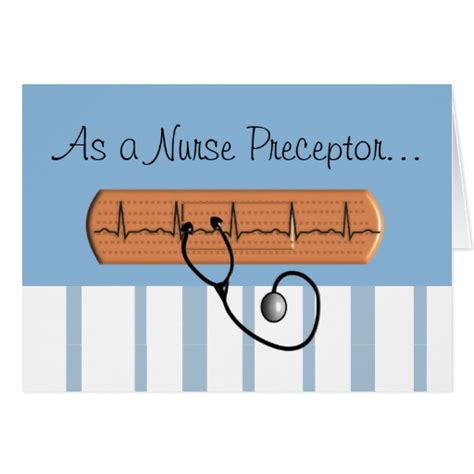 Thank You Letter Nursing Preceptor Preceptor Thank You Card Zazzle