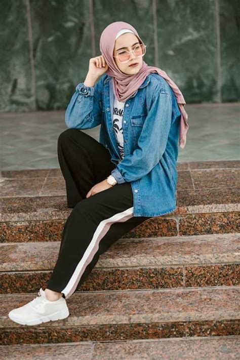 casual  sporty hijab style  trendy girls