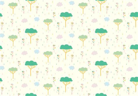 tree plants pastel pattern   vectors
