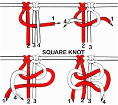 How To Tie A Macrame Square Knot - 1000 images about macrame on macrame