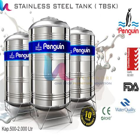 Toren Penguin Stainless tangki air toren air tandon air penguin stainless steel