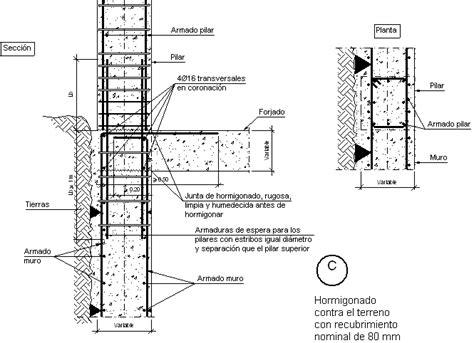 diferencia entre cadenas y pilares detalles constructivos cype ccm010 c pilar embebido en