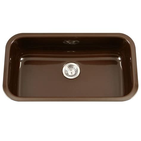 large single bowl kitchen sink houzer porcela series undermount porcelain enamel steel 31