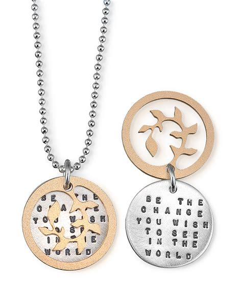 be the change necklace inspirational gandhi quote