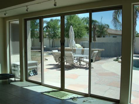 Patio Door With Window Patio Glass Doors Harbor All Glass Mirror Inc