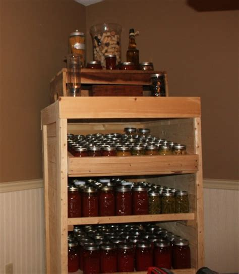 Diy Pantry by Diy Wood Pallet Canning Pantry