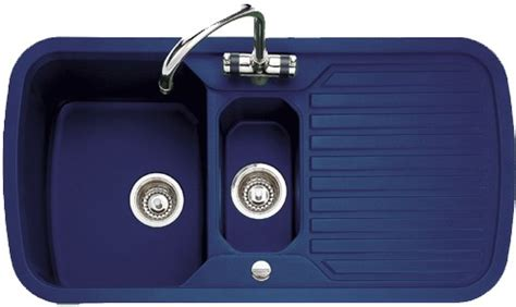 1 5 bowl regal blue sink with chrome tap waste