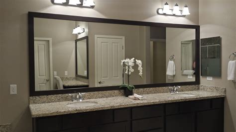 mirrored bath vanity before and after customer bathroom in las vegas frame