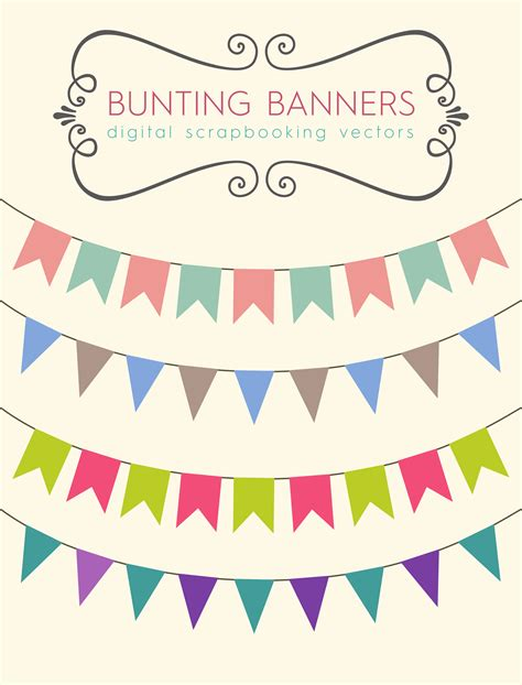 free vector graphics clipart these bunting banners to use for your