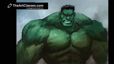tutorial photoshop hulk digital painting tutorial the hulk youtube
