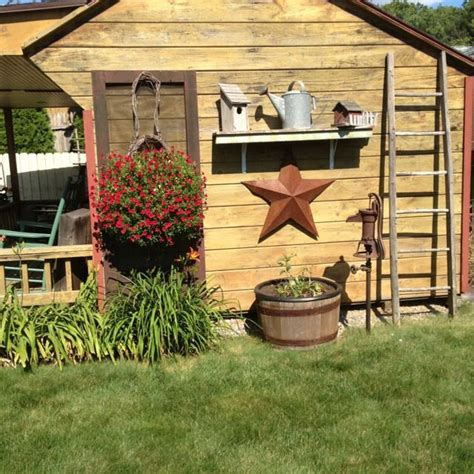 ideas  rustic shed  pinterest country