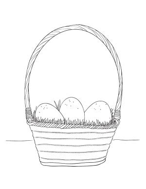 egg basket coloring page easter coloring pages make and takes