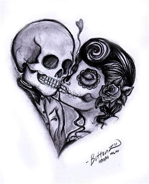 sugar skull couple tattoo 25 best ideas about skull on