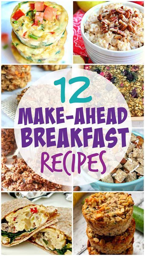 make ahead food gift easy and healthy make ahead breakfast recipes for the entire family