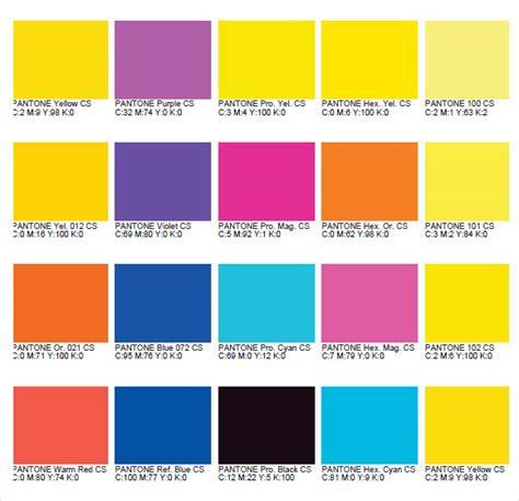sle pms color chart pantone color chart cmyk pantone color chart sle 8 documents in