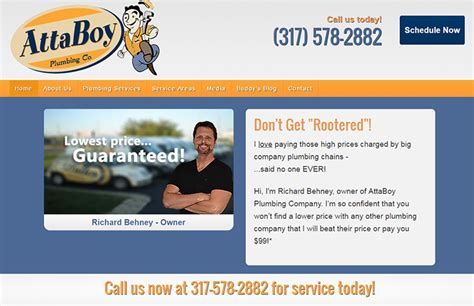 Attaboy Plumbing by 100 Plumbing Websites For Design Inspiration