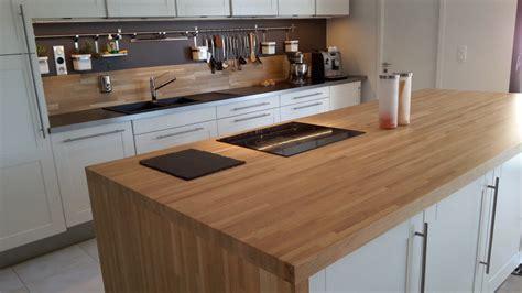 plan travail cuisine bois charmant plan de travail cuisine hetre 6 en bois