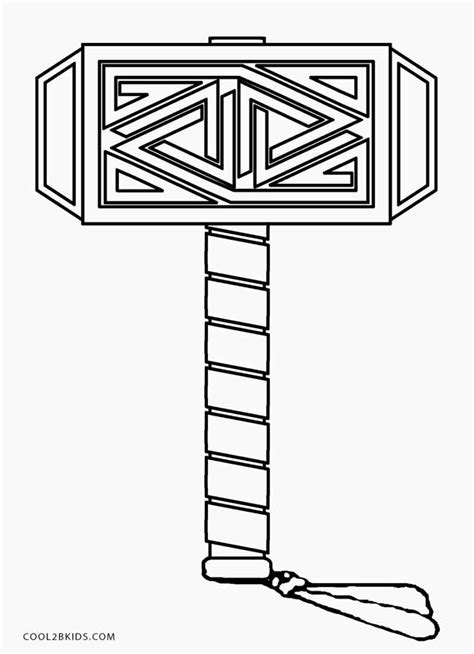 Printable Thor Coloring Pages For Kids Cool2bkids Thor Hammer Printable Template