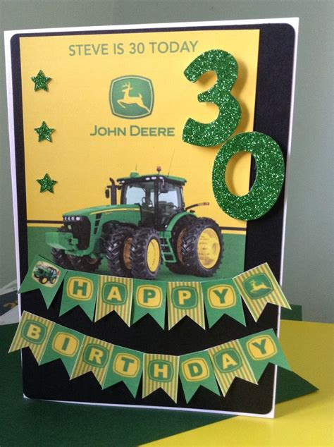 Tractor Birthday Card Tractor 30th Birthday Card Cards I Ve Made Pinterest