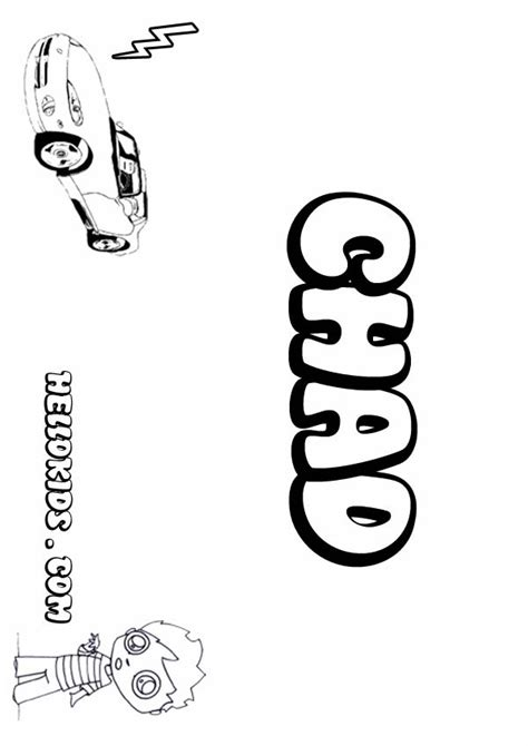 Coloring Pages Of The Name Chad | kids name coloring pages chad boy name to color