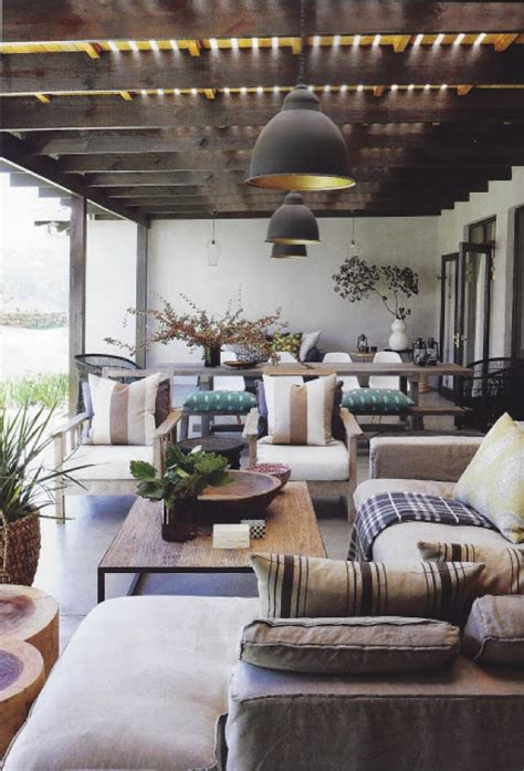 porch decoration with indoor furniture decorating with