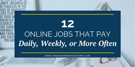 Online Work From Home Jobs That Pay Weekly - real free online jobs that pay daily
