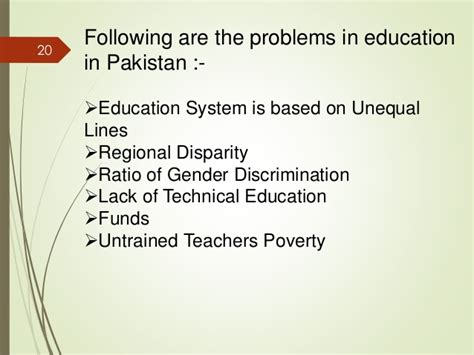 thesis about education problems pdf lack of education in pakistan essay