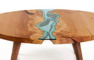 topography coffee table unique wooden tables embedded with glass rivers and lakes by furniture maker greg klassen